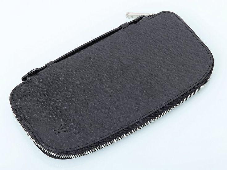 Большое портмоне Louis Vuitton из натуральной кожи черное #18876 !! Распродажа модели !! Модель со скидкой !!