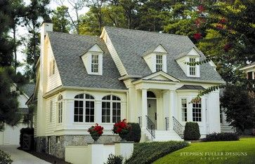 Front Facade - traditional - exterior - atlanta - by Stephen Fuller Designs..this is the one!