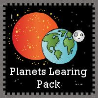 Free Planets Learning Pack - over 90 pages for ages 4 to 10 with information sheets to fill out on each planet, plus coloring pages, writing, print & cursive and more - 3Dinosaurs.com