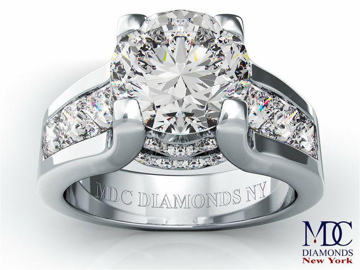 Modern Engagement Rings | Engagement Ring - Modern Round Diamond Engagement ring princess ...