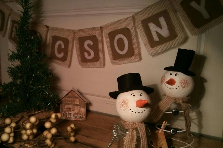 primitive snowman d.i.y