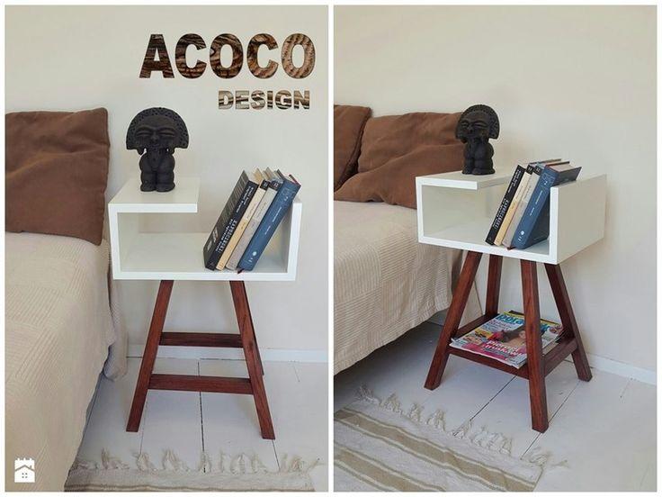 Orange Nachttisch oder Beistelltisch AA von Acoco  auf DaWanda.com