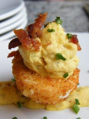 Fried deviled eggs? --Oh My God!! Yum!