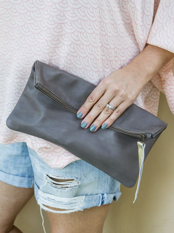 Roomy Leather Clutch