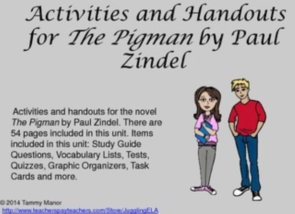 Printables The Pigman Worksheets 1000 images about pre ap ela on pinterest literature student activities and handouts for the novel pigman there are 54 pages included in this