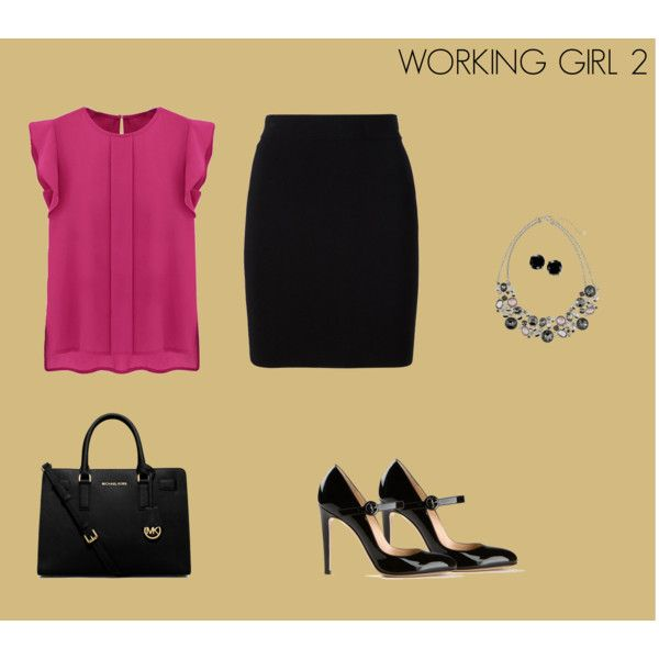 WORKING GIRL 2 by marisol-fernandez-zumba on Polyvore featuring polyvore moda style T By Alexander Wang Gianvito Rossi Michael Kors White House Black Market B. Brilliant
