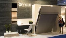Boone opklapbed Smart 90x200cm, 140x200cm,160x200 cm.180x200cm.  kleur: wit/taupe www.theobot.nl