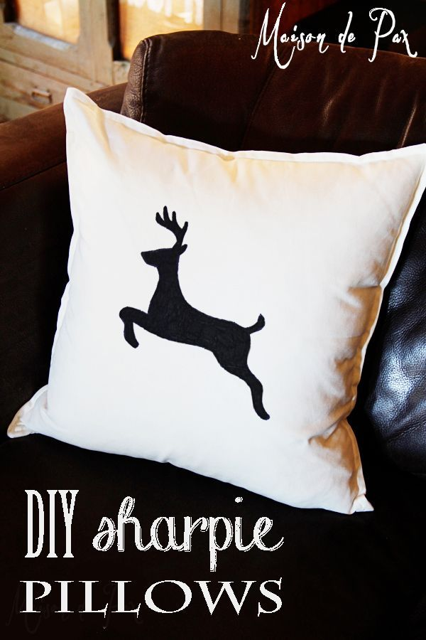 Easiest project ever and great design ideas! diy sharpie pillows for Christmas | maisondepax.com
