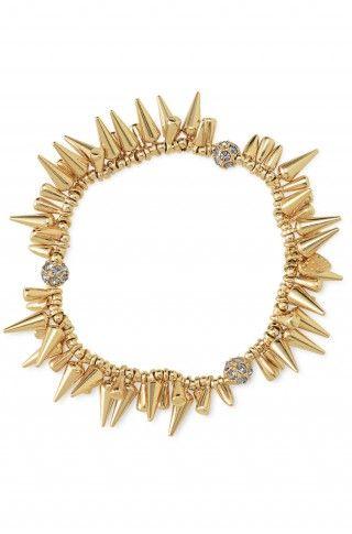Stella and Dot: Dots Renegade, Renegade Bracelets, Gold Spikes, Fashion Bracelets, Cluster Bracelets, Stella And Dot, Renegade Cluster, Stella Dots, Dots Bracelets