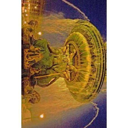 Golden Fountain I Canvas Art - Maureen Love (12 x 18)