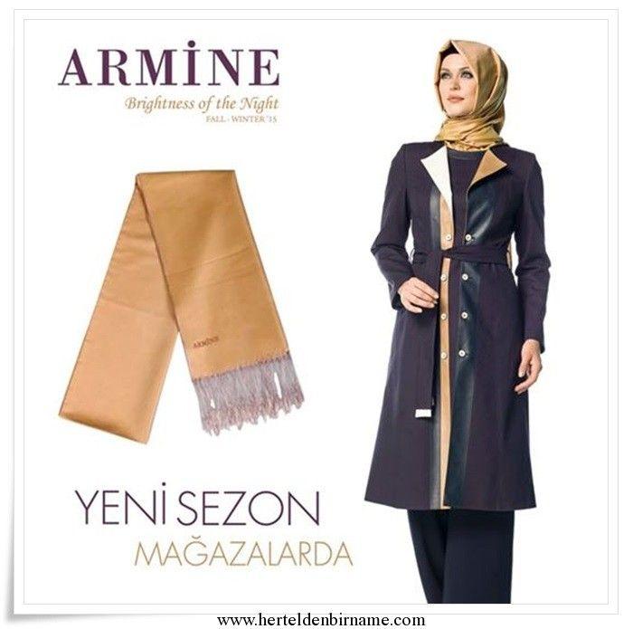 Armine 2014-2015 Brightness of the night koleksiyonu herteldenbirname.com'da.. #Armine #Brightness #tesettur #hijab #abaya #scarf #pardesü #kap #trençkot #pardösü #eşarp #şal #tesettur giyim #tesettur modası #2015 tesettür