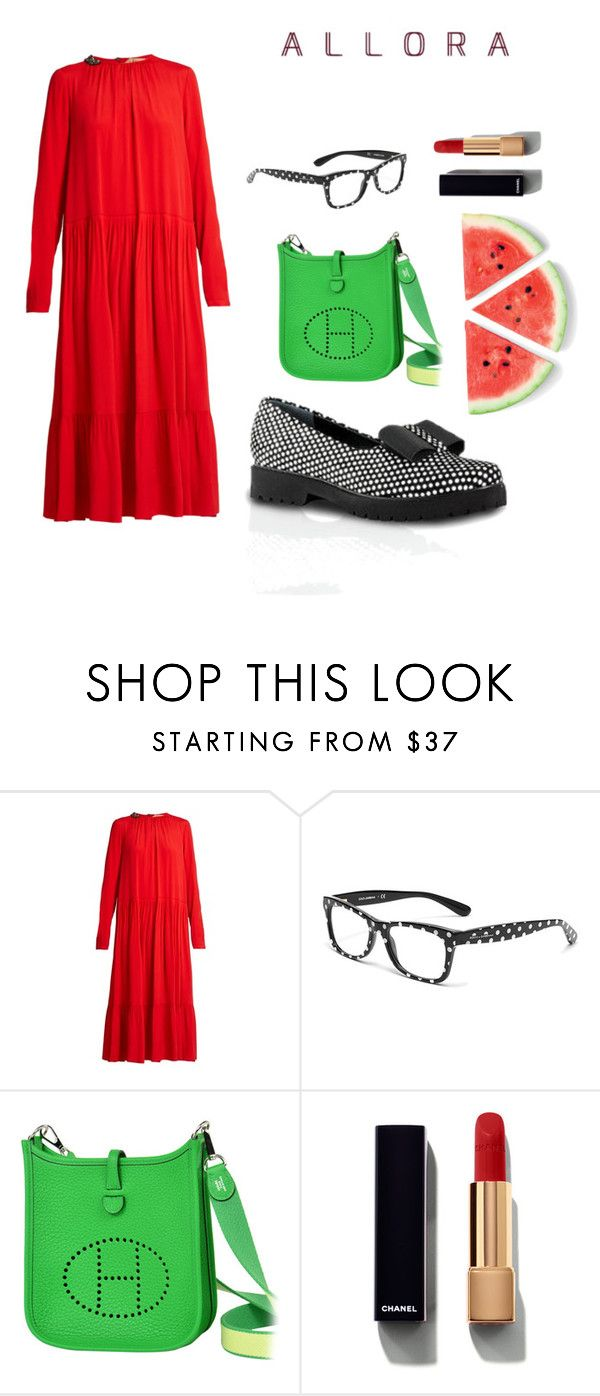 """""""Watermelon mood"""" by mirra-morgenstern on Polyvore featuring мода, N°21, Dolce&Gabbana, Hermès и Chanel"""