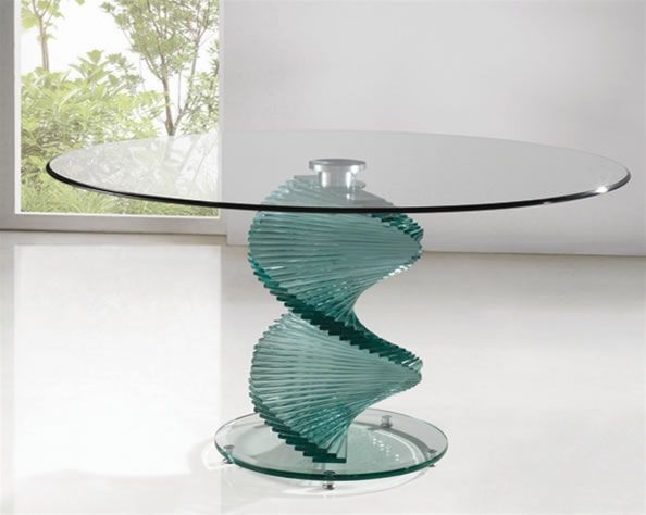Twisty Large Glass Clear Or Black Glass Dining Kitchen Table Stylish And  Modern Part 34
