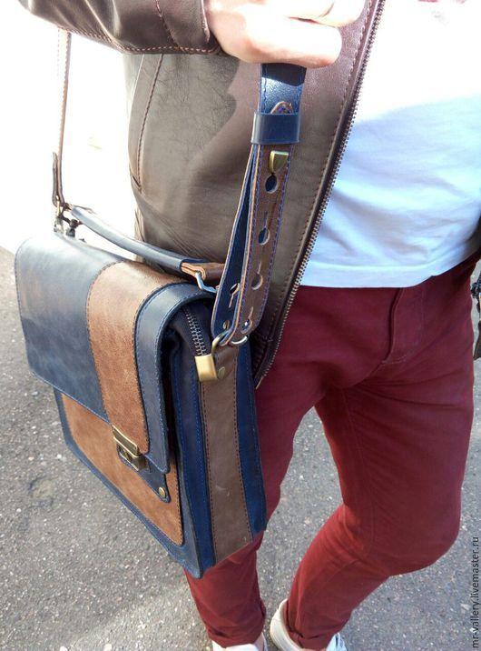 Мужские сумки ручной работы. Мужская кожаная сумка
