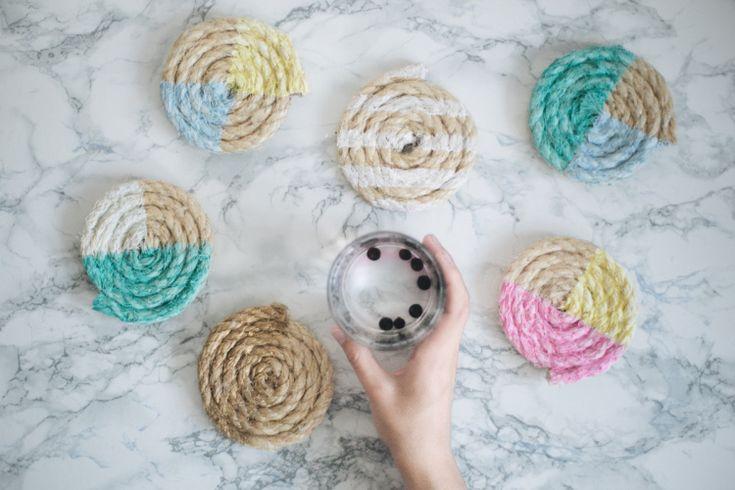 DIY Drink Coasters // Simple + Beyond
