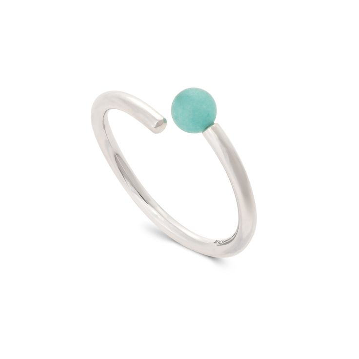 Buy the Elda Sphere Twist Silver Ring at Oliver Bonas. Enjoy free worldwide standard delivery for orders over £50.