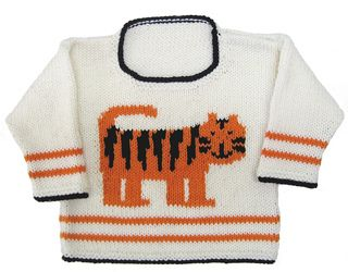 Tiger Pullover pattern by Gail Pfeifle, Roo Designs