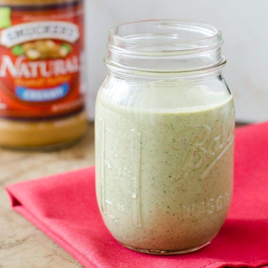 PB&J Green Smoothie - simple, healthy, refreshing.