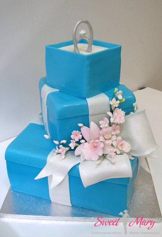 Свадебный торт в стиле Тиффани