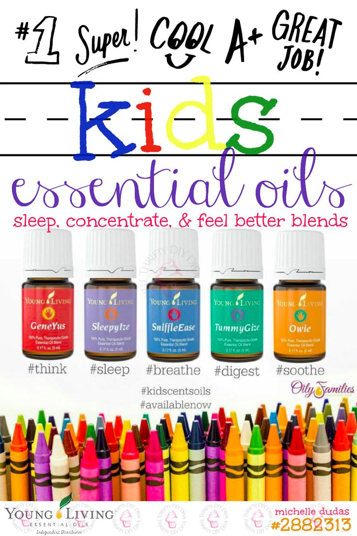 Wondering what kinds of kids essential oils are available? Young Living has made it easy with their essential oils for kids called KidScents that are safe to use!