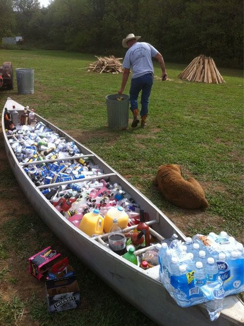 Canoe Cooler Drinky Time Camp Wedding Camo Wedding