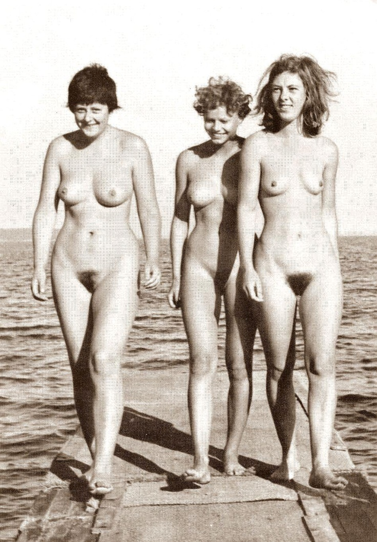German Chancellor Angela Merkel with two friends.