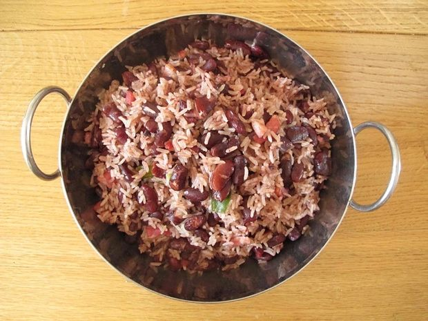 Helen Willinsky's rice and peas.