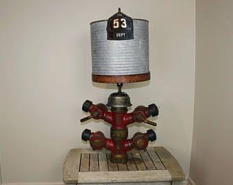 Steampunk lampe pompier