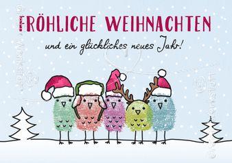 Fröhliche Weihnachten - Postkarten - Grafik Werkstatt Bielefeld