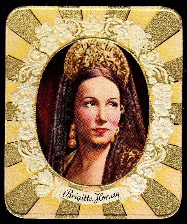 https://flic.kr/p/bbCsMP | German Cigarette Card - Brigitte Horney | Garbaty's Cigarettes, Modernschonheitsgalerie (Gallery of Modern Beauty) c1935. #82 Brigitte Horney ~ German actress 1911-1988