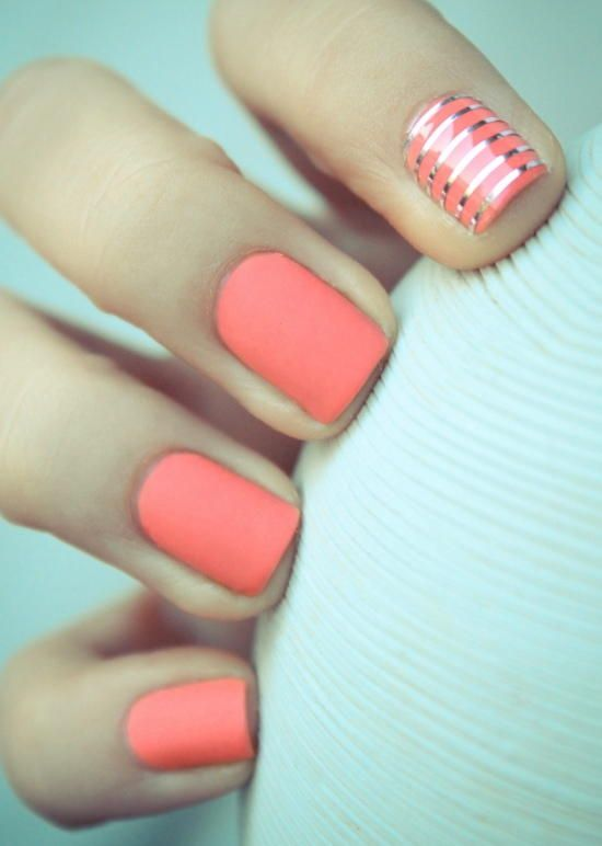Great summer nails. Visit Walgreens.com to find similar nail polish colors to re-create this look!