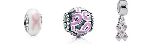 Breast Cancer Awareness Charms available at the Pandora Store at Franklin Park Mall in Toledo