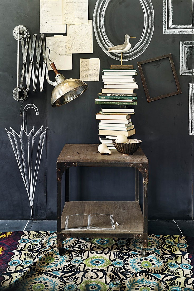 89 best gray images on pinterest home living room ideas and chalkboard walls a great entry or hallway option and drawing fun accessories instead of actually hanging them like the frames and umbrella or shoes and