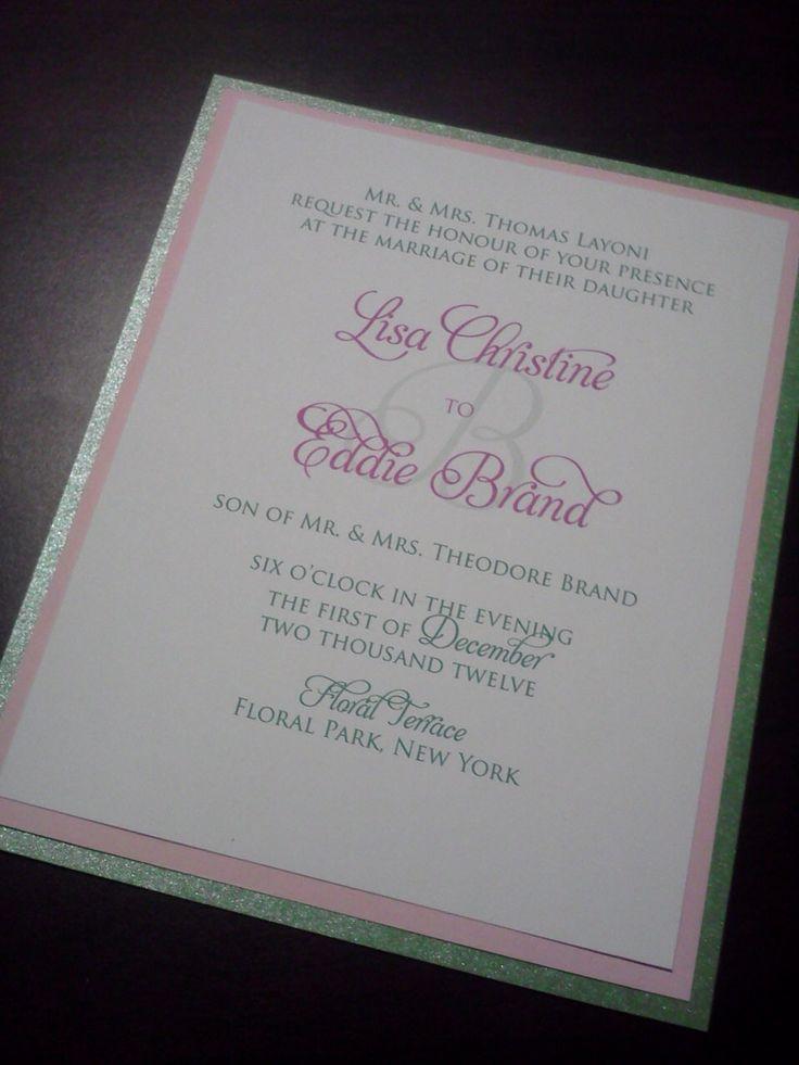tulip wedding invitation templates%0A Elegant  Fun  Fancy  Layered x   Green  Pink and White Wedding Invitation