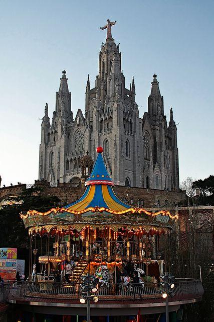 Tibidabo  - Barcelona, Spain... Temple de Sagrat Cor