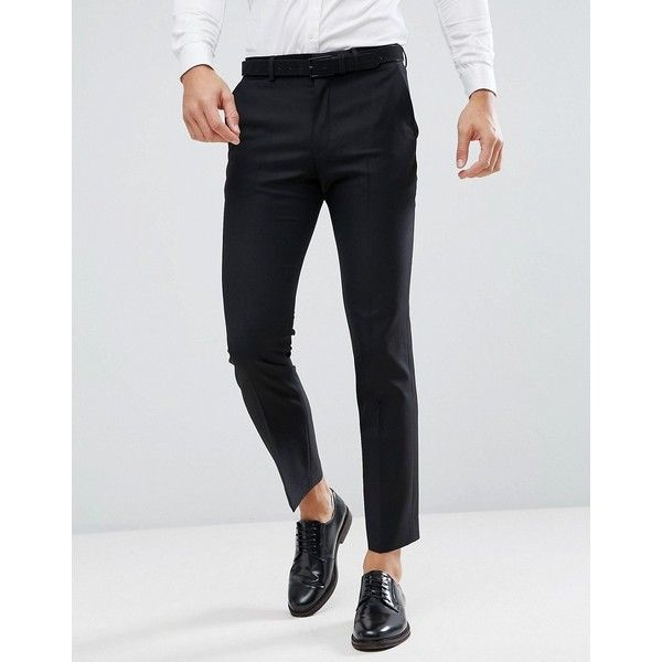 Asos Slim Suit Pant In Black 100 Wool 78 Liked On Polyvore