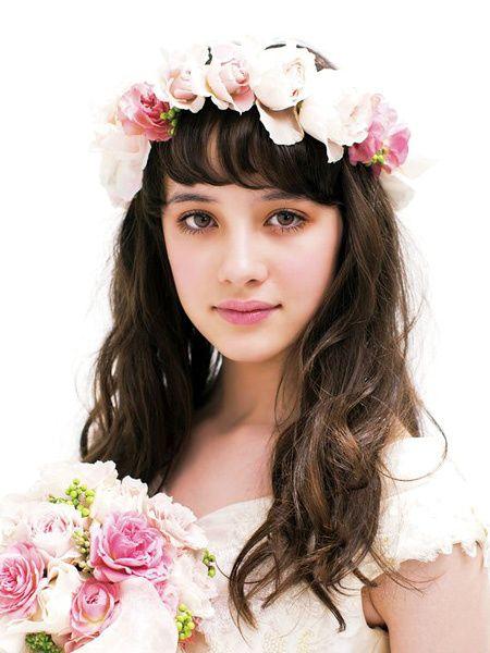 バラの妖精のような甘いピンクのロマンティックヘア/Front|ヘアメイクカタログ|ザ・ウエディング