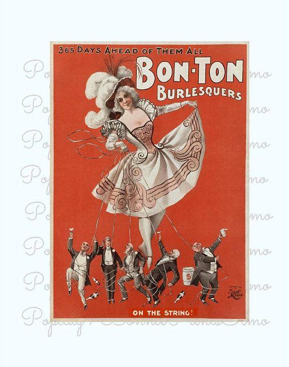 Bon-Ton Burlesquers Vintage Burlesque Poster by BonniePrintsElmo