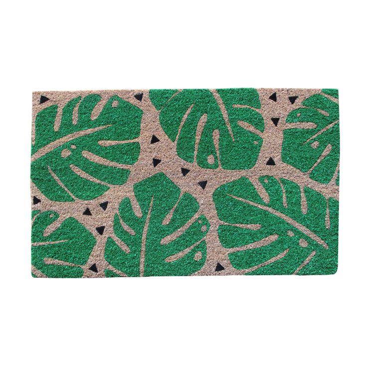 Monsteria Leaf Coir Mat | Kmart