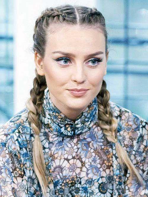 perrie edwards famosa | Celebrity Hair Braids | Penteados da moda, Penteados e Tranças de lutadora