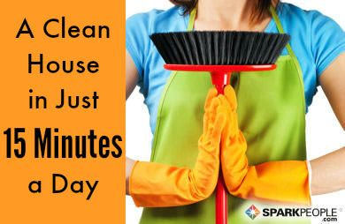 How to Keep Your House Clean in 15 Minutes a Day! | SparkPeople