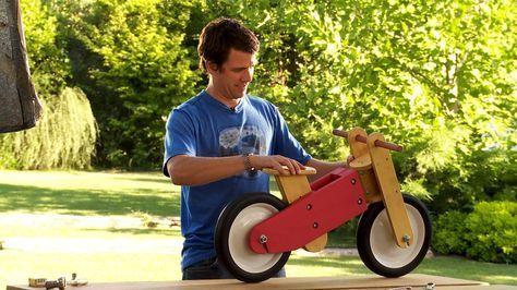 En este proyecto haremos un regalo, un juguete que a todos los niños les gustaría tener, se trata de una bicicleta infantil, sin pedales, para niños entre 2 y 6 años, que sirve para desarrollar el equilibrio.