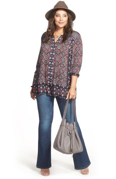 Plus-Size BoHo Chic Fashion @ ElegantPlus.com, Sizes 12 +