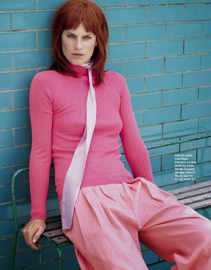 """The Pink Panther"" Querelle Jansen by Sigurd Grunberger for Grazia France August 2014"