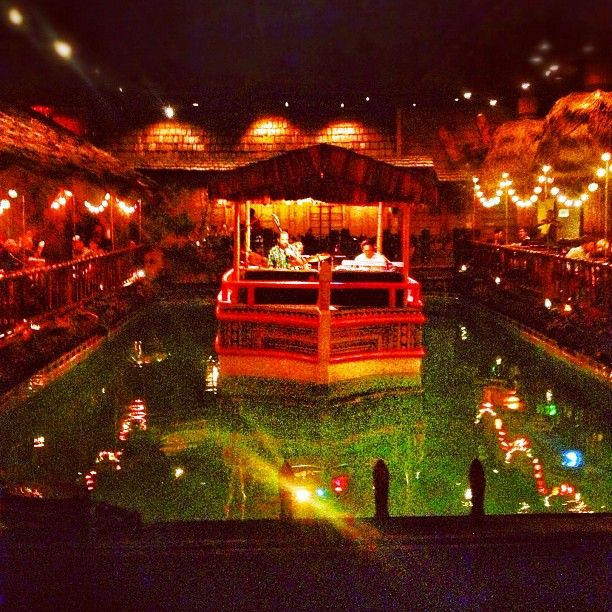 Inside of The Fairmont Hotel. The Tonga Room, it is fabulous,tacky and it has remained remarkably unchanged over time.