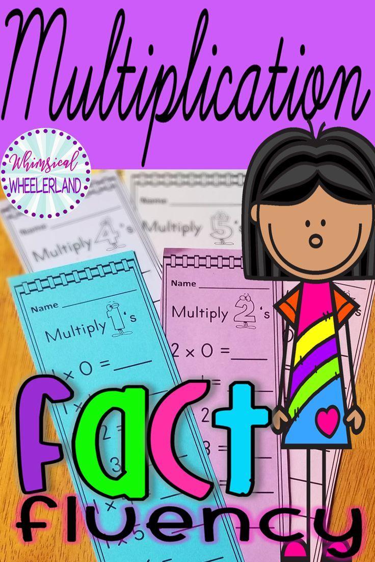Multiplication Fact Fluency Strips Math Facts Math