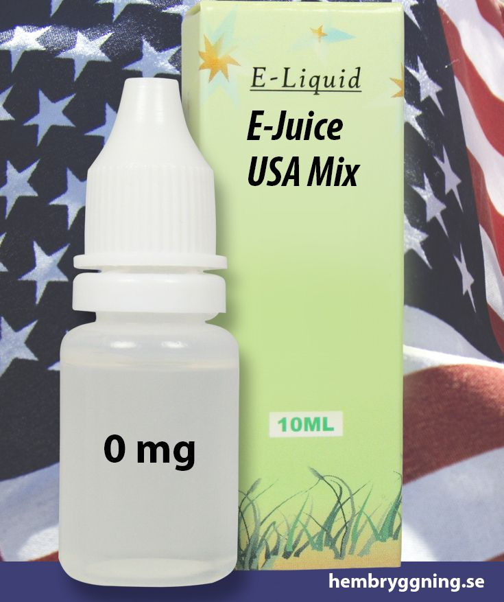 E-Juice USA Mix 10 ml. 0 mg.
