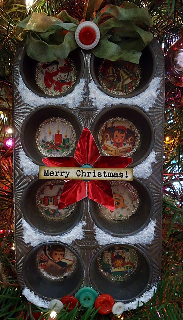 Julie Campbell's Christmas Muffin Tin...comes with instructions.  Super cute!