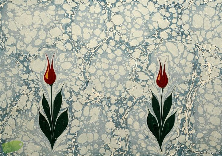 EBRU, a turkish paper marbling art. You can watch a sample video from this link: http://www.youtube.com/watch?v=JQEsR_QChtA=1