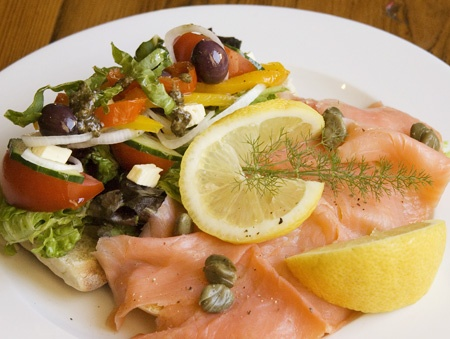 Smoked Salmon Trout on Roosterkoek